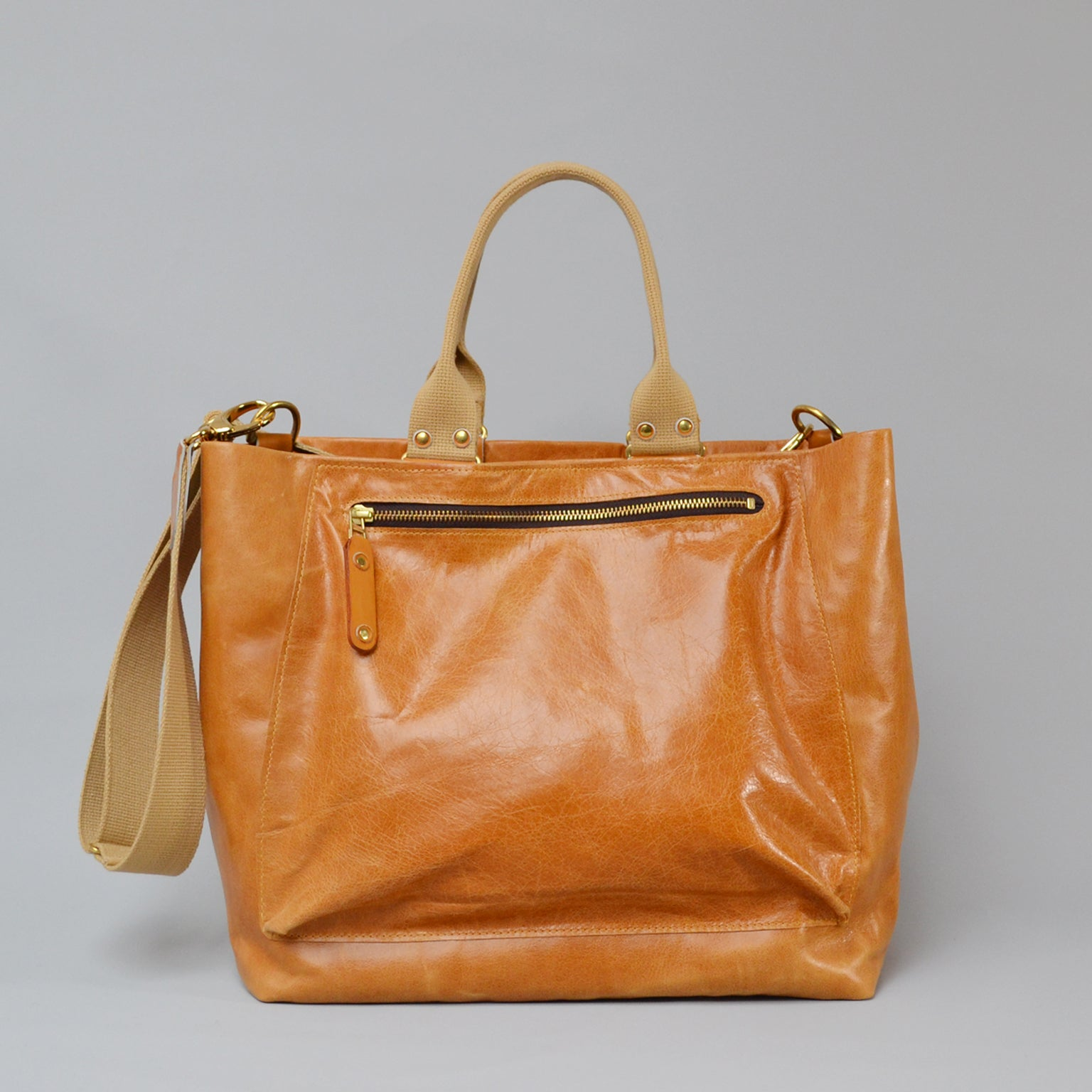 SOFIA <br/> Distressed Leather Shoulder Bag <br/> Tan