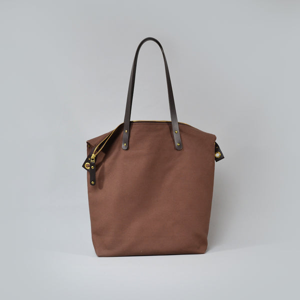 ARTHUR  <br/> Waxed Canvas Tote Bag <br/> Brown