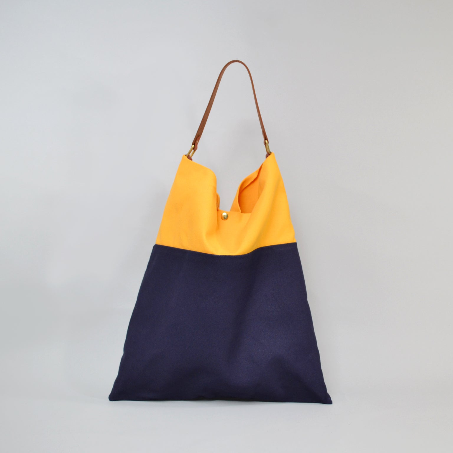 TESS Tote Bag<br> Yellow & Navy