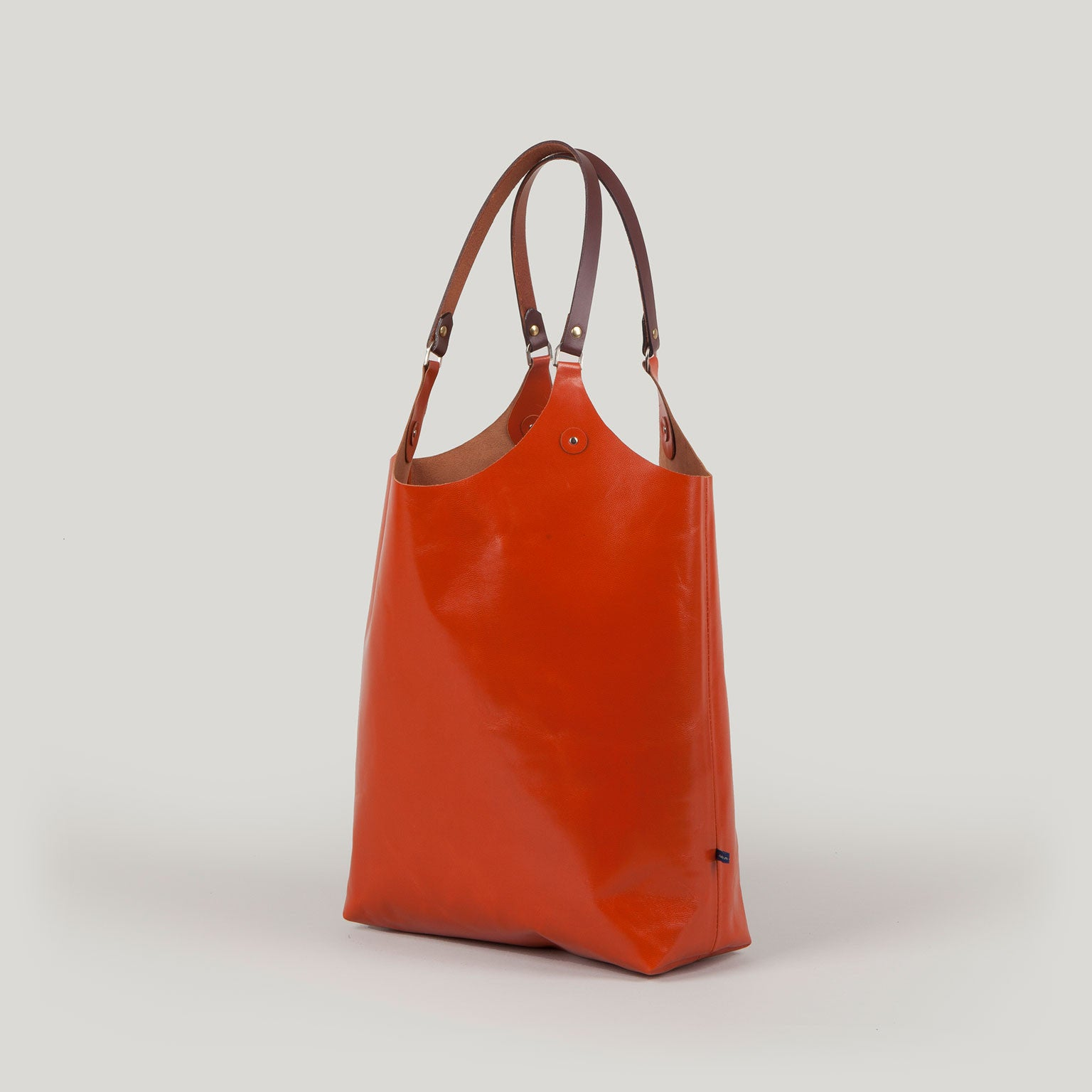MARY Leather Tote - orange