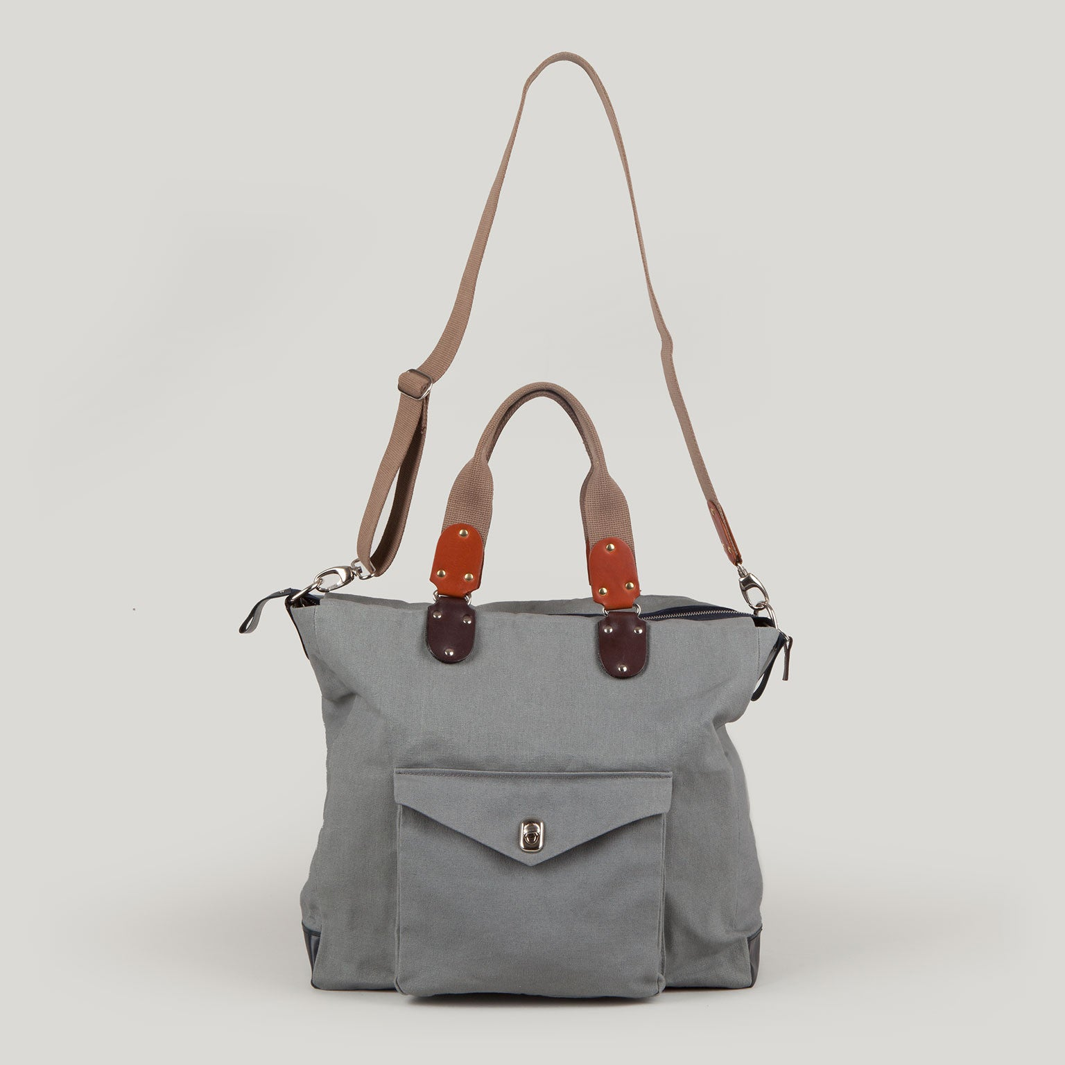 FRANCIS <br/> Canvas Shoulder Bag <br/> Grey