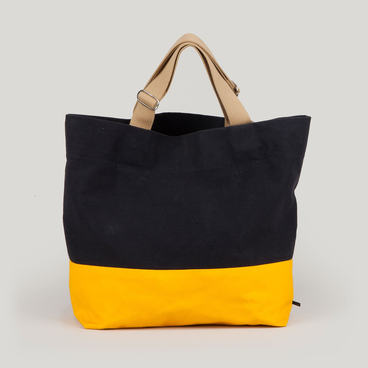 FRIDA  <br/> Waxed Canvas Tote <br/> Black & Yellow