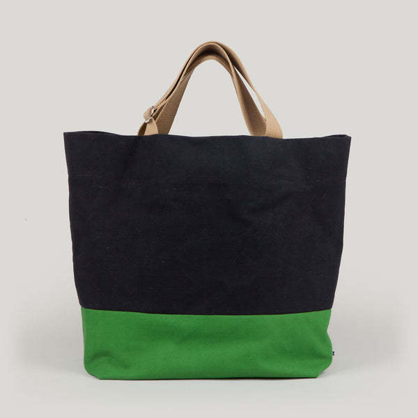 FRIDA tote <br/> Black & Apple Green