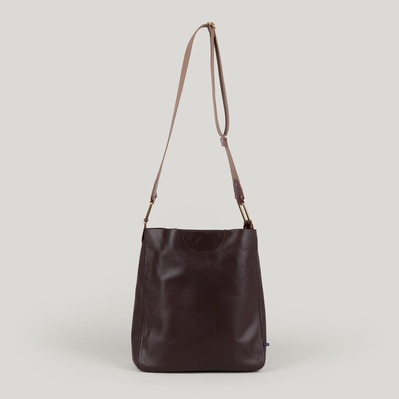 CELESTE leather shoulder bag - chestnut