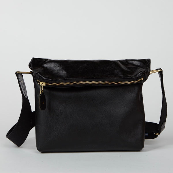 NATALYA distressed leather <br/> Black