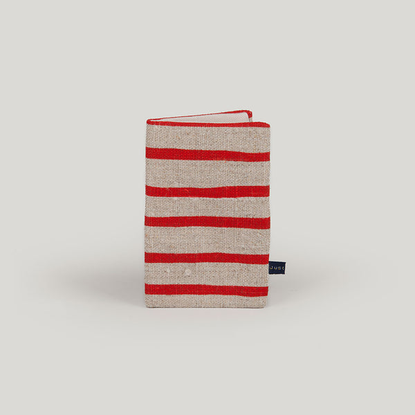 Travel Wallet Artisan Stripe - red & linen