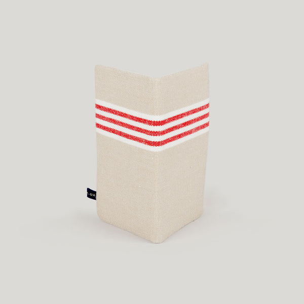 Travel Wallet Deckchair Stripe - red & biscuit