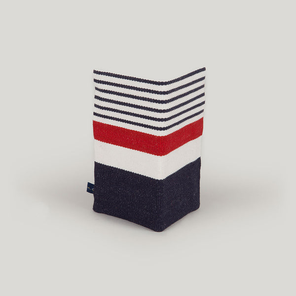 Travel Wallet Nautical Stripe - navy blue & red