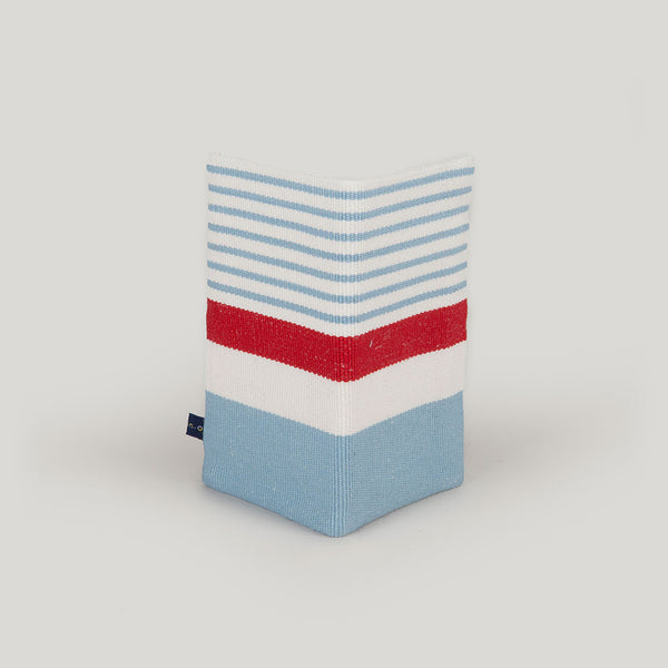Travel Wallet Nautical Stripe - baby blue & red