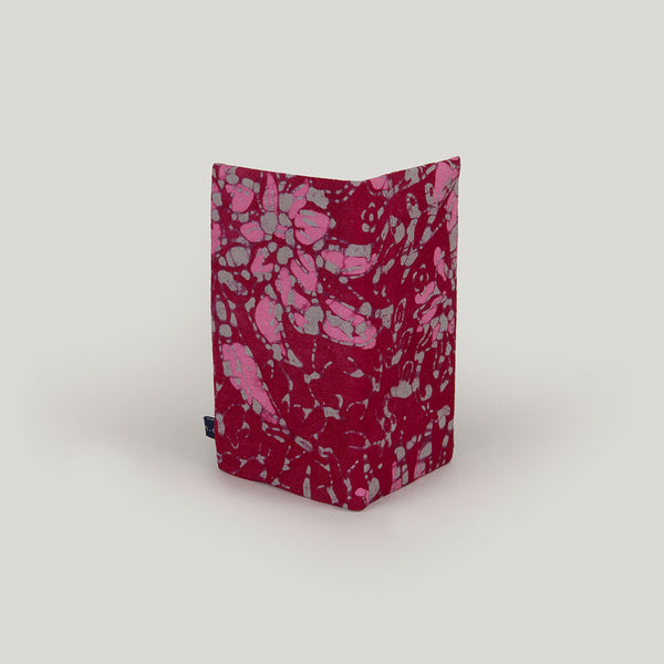 Travel Wallet Marbled Batik - cranberry, pink & grey