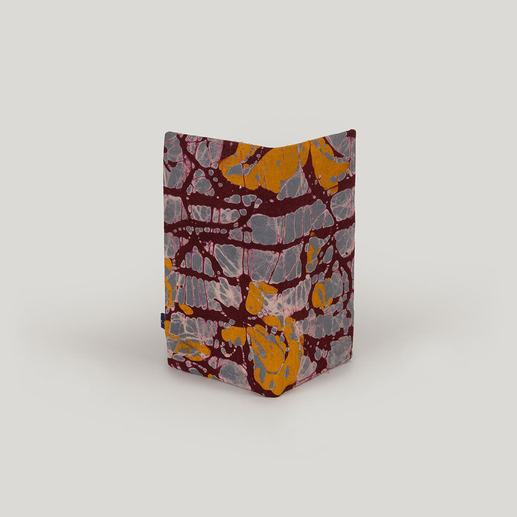 Marbled Batik <br/> Grey, Beetroot & Mustard