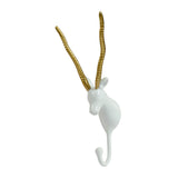 White and Gold Gazelle Hook - Artisanal Creations