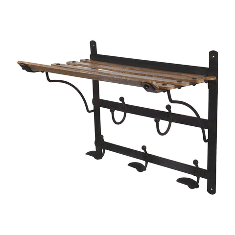 Vintage Train Coat Rack and Shelf Artisanal Creations Extraordinary Vintage Coat Rack With Shelf