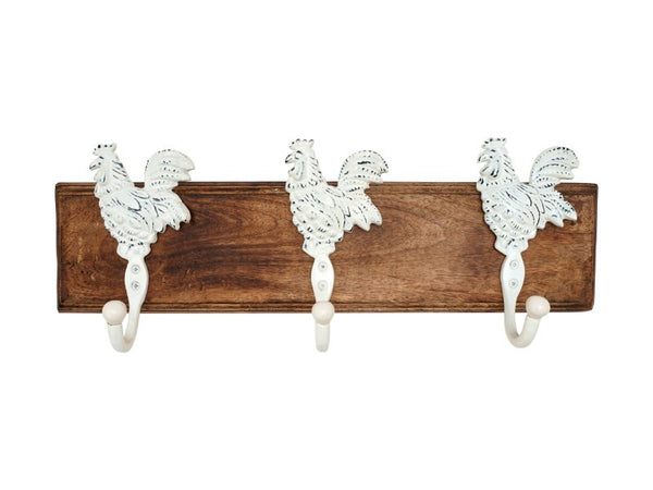 Rooster Coat Hook Rack - Artisanal Creations