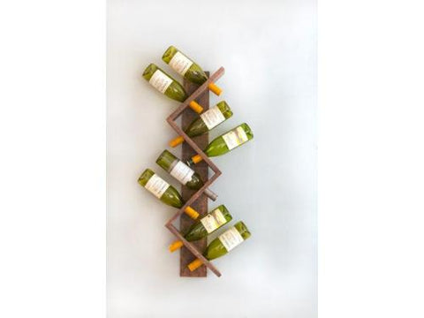 Z 8 Bottle Wall Mounted Wine Bottle Rack - Artisanal Creations