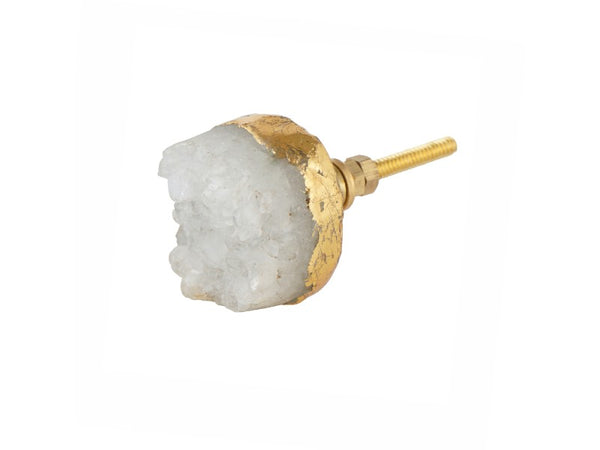 Set of 2 Natural Crystal Knobs or Pulls - Artisanal Creations