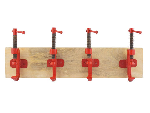 Vice Wood and Metal Hook Rack - Artisanal Creations