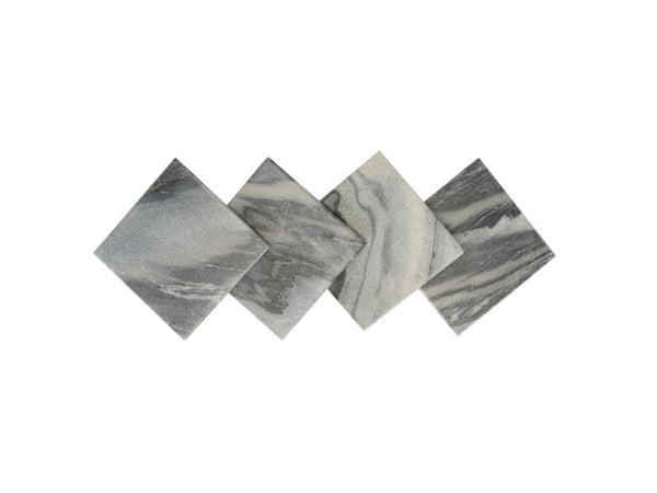Grey Square Marble Coasters, Set of 4 - Artisanal Creations