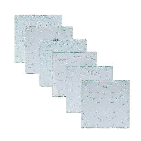 Cracked Glass Coaster, Set of 6 - Artisanal Creations