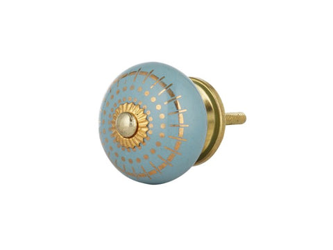 Beau Blue Ceramic Knobs, Set of 12 - Artisanal Creations