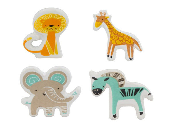 Set of 4 Jungle Animal Knobs or Pulls - Artisanal Creations