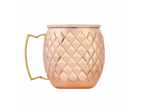 Pineapple Copper Mug, Set of 4 - Artisanal Creations