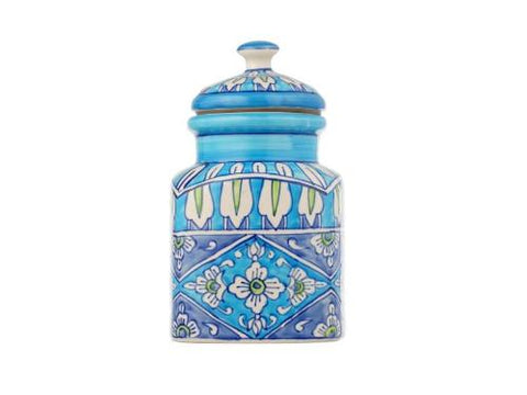 Artisanal Creations Hand Painted Large Ceramic Air Tight Cookie Jar - Artisanal Creations