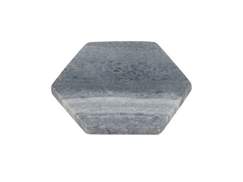Set of 4 Grey Hexagon Marble Coasters - Artisanal Creations