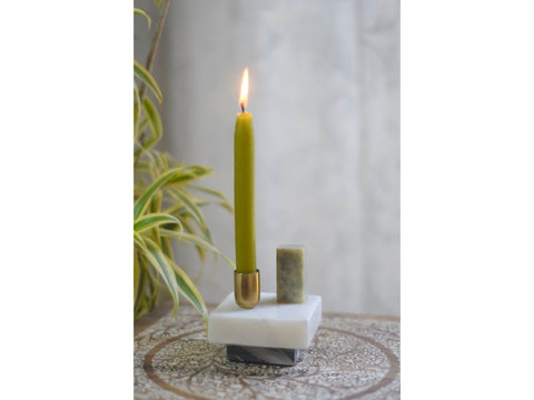 Marble Abstract Candle Holder for Taper Candles - Artisanal Creations