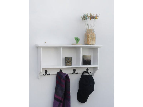 Wall Mounted Coat Rack and Shelf - Artisanal Creations