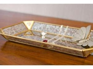 Vintage Style Jewelry Glass Tray - Artisanal Creations