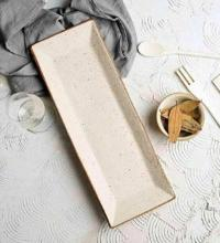 Stoneware Rectangular Serving Platter - Artisanal Creations