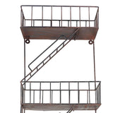 Fire Escape Shelf with Anti-Corrosion Powder Coating - Artisanal Creations