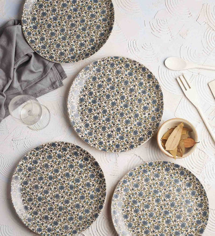 Artisanal Creations Floral Stoneware Dinner & Side Plates - Artisanal Creations