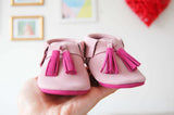!Pink - Crib moccasins  |  out of stock