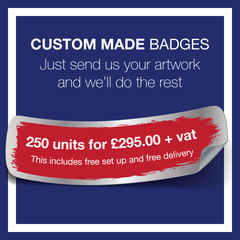 4. Custom Made Badges (250 Units) by School Badges UK