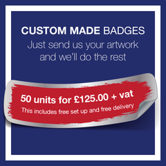 2. Custom Made Badges (50 Units) - School Badges UK