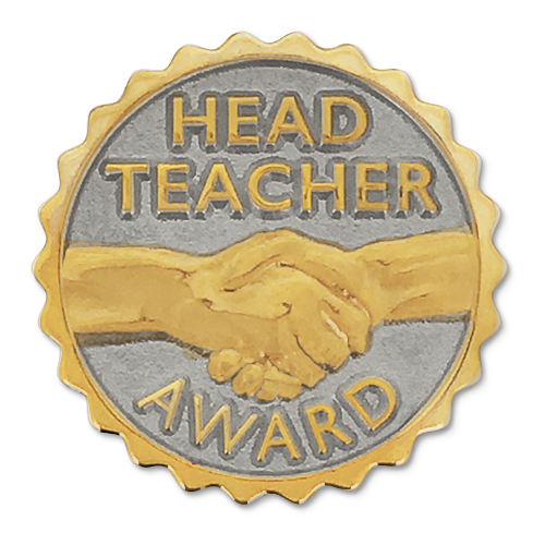 Head Teacher Award Badge by School Badges UK