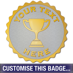 Personalised Scalloped Trophy Badge - School Badges UK