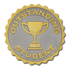 Outstanding Student Badge by School Badges UK