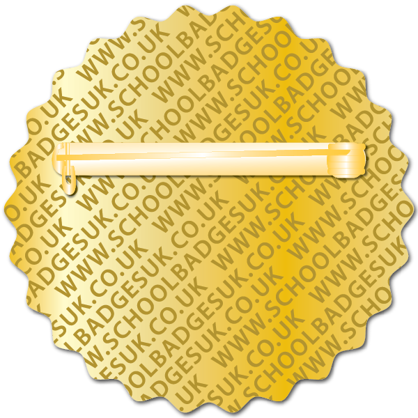 Personalised Scalloped Trophy Badge by School Badges UK