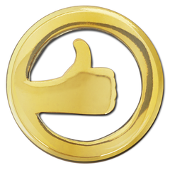 Thumbs Up Badge by School Badges UK