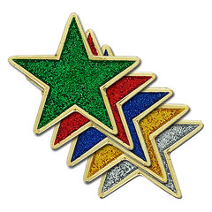 Glitter Star Badge by School Badges UK