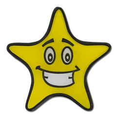 Smiley Star Badge by School Badges UK