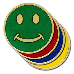 Smiley Round Badge by School Badges UK