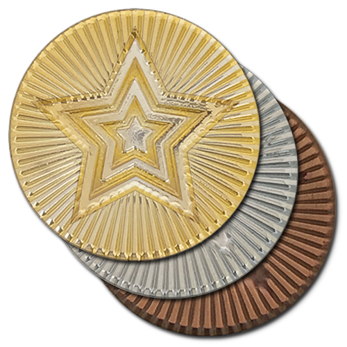 Round Star Metal Badge by School Badges UK