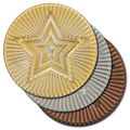 Round Star Metal Badge