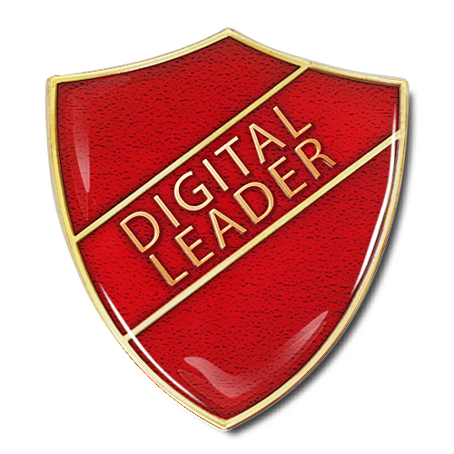 Digital Leader Shield Badge by School Badges UK
