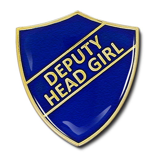 Deputy Head Girl Shield Badge by School Badges UK