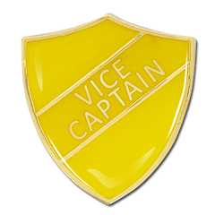 Vice Captain Shield Badge by School Badges UK